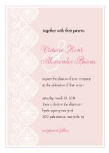 Wedding Invitations - handmade lace
