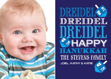 Hanukkah Cards - dreidel fun