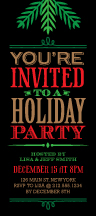 Holiday Party Invitations - old time holiday party