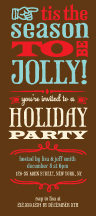Holiday Party Invitations - to be jolly