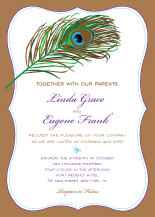 Wedding Invitations - pretty peacock colors