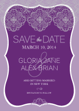 Save the Date Card - lace applique