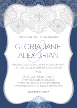 Wedding Invitations - lace applique