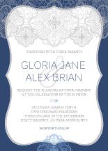 Wedding Invitations - lace applique