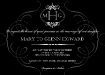Wedding Invitations - monogram ornament
