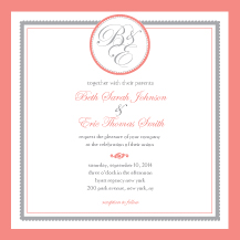 Wedding Invitations - medallion monogram