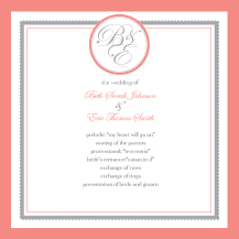 Wedding Program - medallion monogram