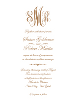 Wedding Invitations - classic monogram