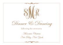 Reception Card - classic monogram