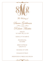 Wedding Program - classic monogram