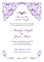 Wedding Invitations - antique scroll