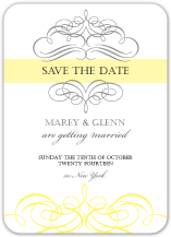 Save the Date Card - he and she