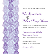 Wedding Invitations - ombre lace
