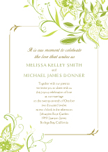 Wedding Invitations - summer lilies