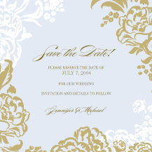 Save the Date Card - lush bouquet