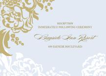 Reception Card - lush bouquet