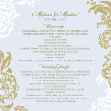 Wedding Program - lush bouquet