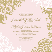 Wedding Invitations - lush bouquet