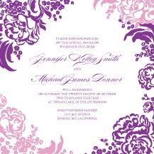 Wedding Invitations - lush bouquet