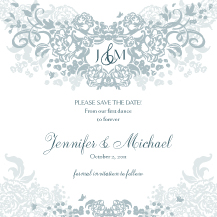 Save the Date Card - joyful symphony