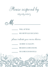 Response Card with menu options - joyful symphony