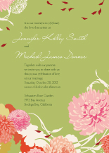 Wedding Invitations - floating mums