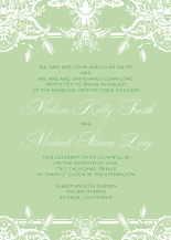 Wedding Invitations - ornate lilies
