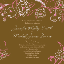 Wedding Invitations - blooming branches