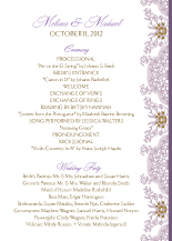 Wedding Program - lacy bouquets
