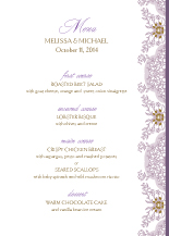Menu - lacy bouquets