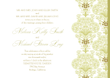 Wedding Invitations - lacy bouquets