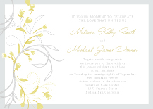 Wedding Invitations - tulip bouquets
