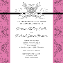 Wedding Invitations - lace and ribbon