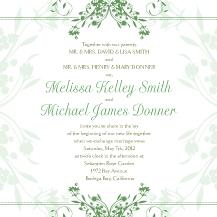Wedding Invitations - tulip scrolls