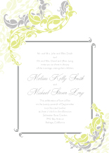 Wedding Invitations - leafy vines