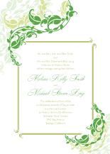 Wedding Invitations - leafy vines