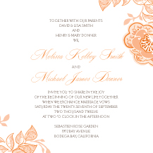 Wedding Invitations - rose garlands