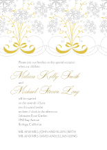 Wedding Invitations - star flowers