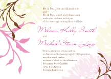 Wedding Invitations - summer dahlias