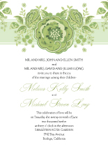 Wedding Invitations - roses and ribbon