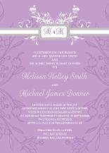 Wedding Invitations - monogram scroll