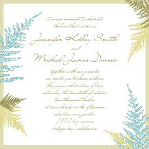 Wedding Invitations - forest ferns