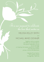 Wedding Invitations - poppy silhouettes