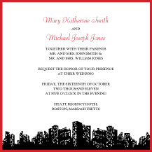 Wedding Invitations - urban chic