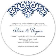 Wedding Invitations - romantic scrolls