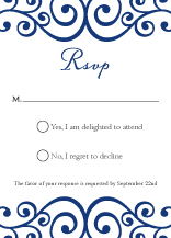 Response Card - romantic scrolls