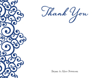 Wedding Thank You Card - romantic scrolls