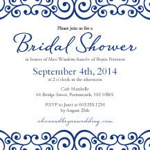 Wedding Shower Invitation - romantic scrolls