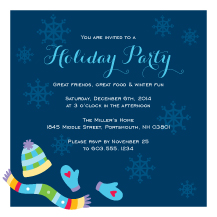 Holiday Party Invitations - bundle up