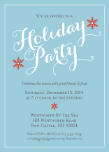Holiday Party Invitations - snowflake wishes